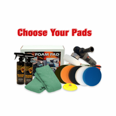 Porter Cable 7424XP & FLAT Pad Kit <font color=blue>Choose Your Pads!</font> <font color=red><strong>FREE BONUS</font></strong>