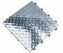 RaceDeck PRO Metal Diamond Plate Floor Tile, 12 x 12 inches