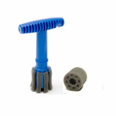Recessed Wheel Lug Nut Cleaning & Polishing Brush