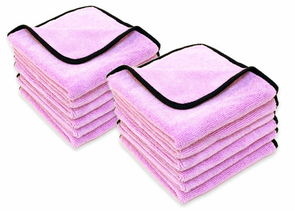 Super Plush Junior Microfiber Towels 16 x 16 inches - 12 Pack
