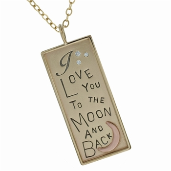14k gold i love you to the moon and back necklace