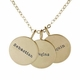 14k gold medium name necklace trio