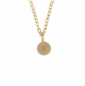 14k gold micro charm necklace