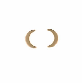 14k gold moon stud earrings