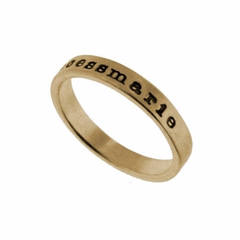 14k gold ring - 3mm