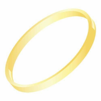 14k gold thick bangle bracelet