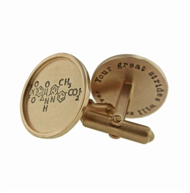 14k gold with 14k gold rimmed round cuff links