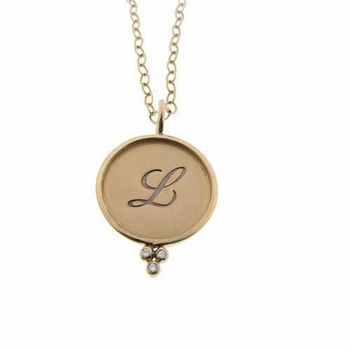 14k personalized charm necklace