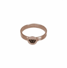 14k rose gold button ring
