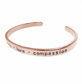 14k rose gold engraved cuff bracelet
