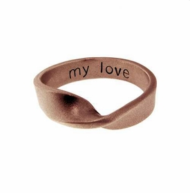 14k rose gold mobius ring