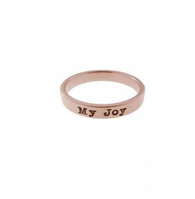 14k rose gold ring - 3mm