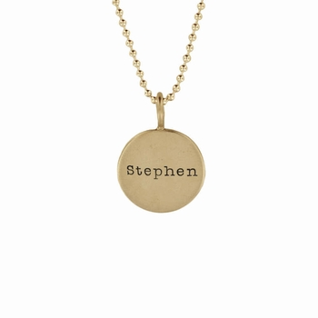 14k small name necklace