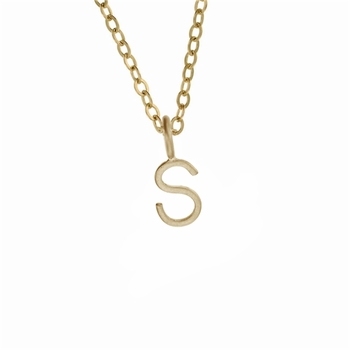 14k solid gold letter necklace