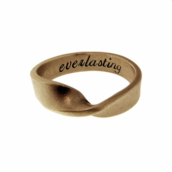 14k solid gold mobius ring