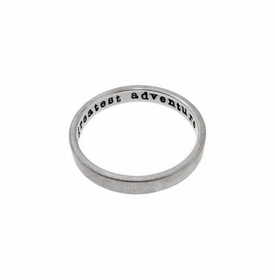 14k white gold ring - 3mm