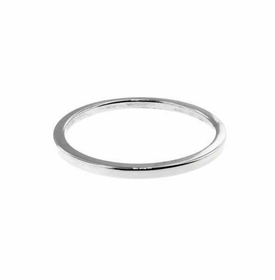 14k white stacking ring - 1.25mm
