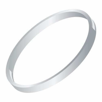 14k white thick bangle bracelet