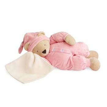 "17"" sleepyhead pink bear by north american bear"