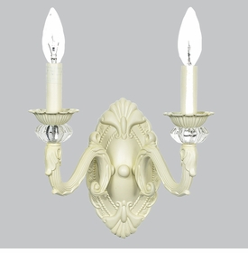 2 arm turret ivory wall sconce