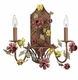 2 arm yellow/red gazebo wall sconce
