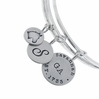 3 bangle set with charms
