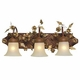3 light gazebo bath light-gold