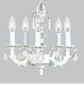 5 arm stacked glass ball chandelier