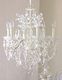 6 light Leafy Ivory Crystal chandelier
