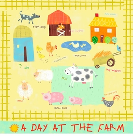 a day at the farm - wall art
