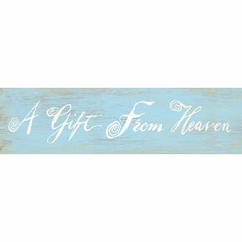 a gift from heaven vintage sign