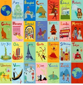 a - z world wall art