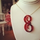 acrylic script single letter colette necklace