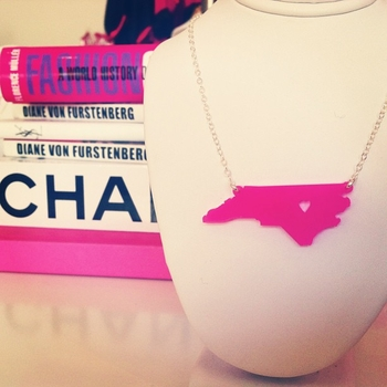 acrylic state necklace