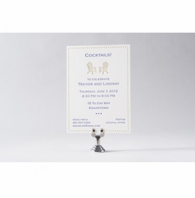 adirondack chairs engagement party card