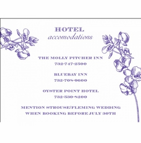adrienne & michael accommodations card