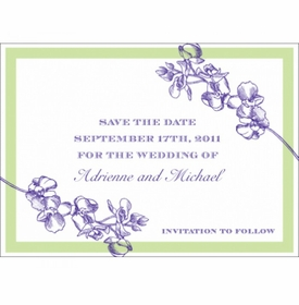 adrienne & michael save the date card
