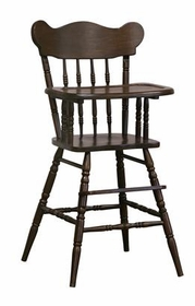 afk high chair (antique french walnut)