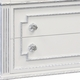 AFK marcheline chest metallic silver and white