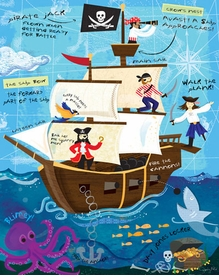 ahoy on the open seas - pirates! - wall art by jessica flick
