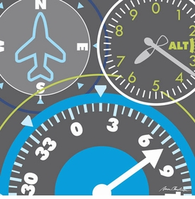 airplane gauges wall art - unavailable