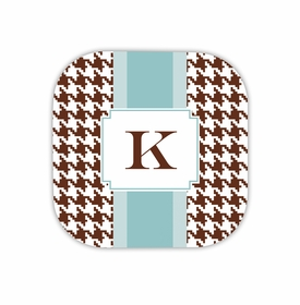 alex houndstooth chocolate hardback rounded coaster<br>(set of 4)