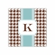alex houndstooth chocolate square paper coaster<br>set of 50