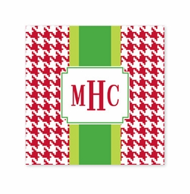 alex houndstooth red square paper coaster<br>set of 50