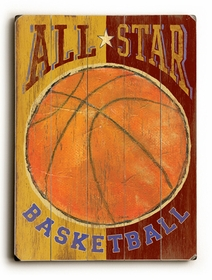 all star basketball vintage sign