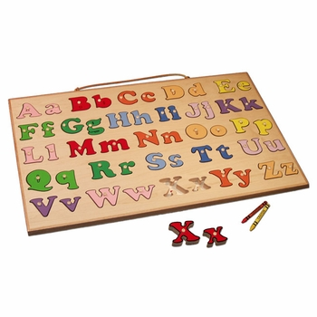 alphabet puzzle - upper and lower case