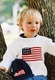 american flag cotton sweater-hand knit