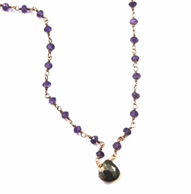 Amethyst & Pyrite Lina Choker Necklace
