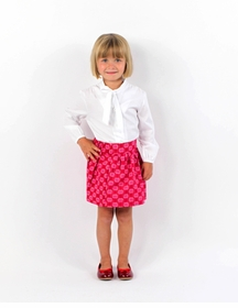 anastasia skirt - pink + red graphic print