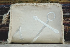 anchor makeup bag or small clutch by queen bea studio